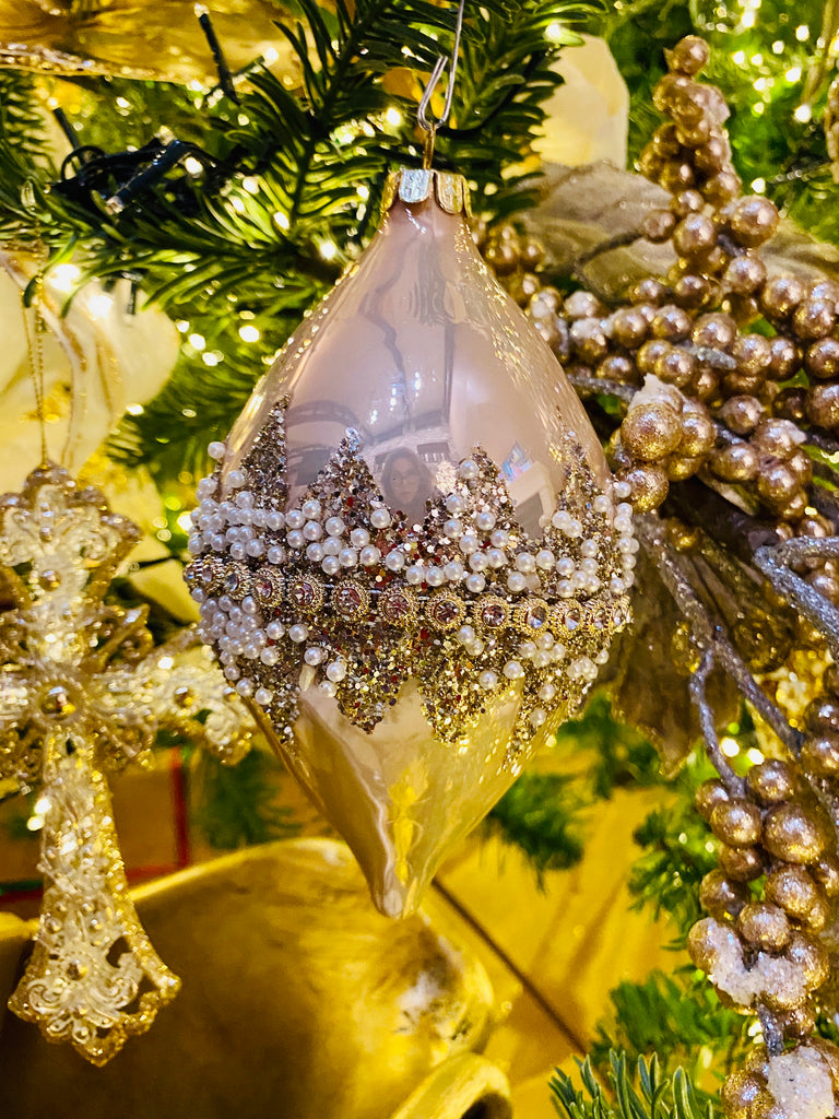 Fancy Beaded Glass Ornaments