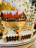 Grand Lighted European Village with Music