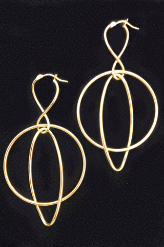 Perfect Size Polished Omega Back Hoop Earrings
