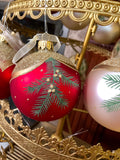 Glittering Pine Branches European Glass Ornaments
