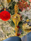 Grand Gold Glass Finial Ornaments