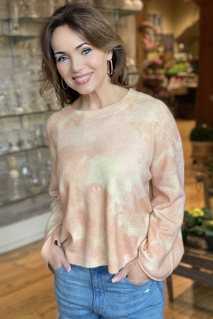 Pink Marble Sweater