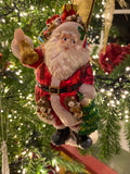 Glass Santa with Bag and Tree Ornament