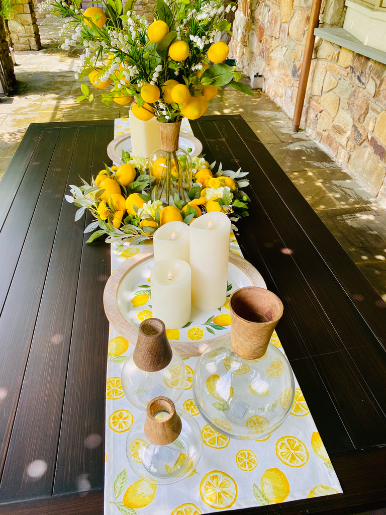 Lemon Linen Table Runner