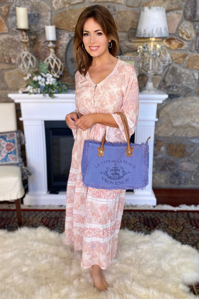 Provence Petite Tote in Periwinkle