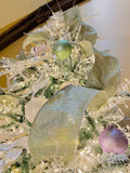 Luxury Sage Green Wired Christmas Ribbon