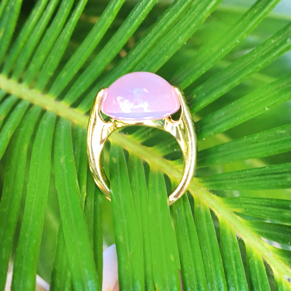 Bold Rose Chalcedony Ring