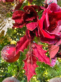 Beaded Red Magnolia Stems