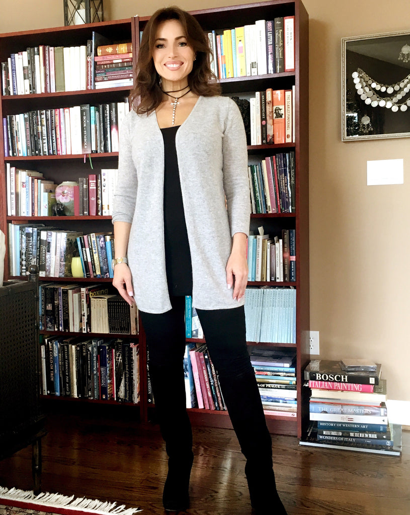 Longer Length Luxury Cashmere Cardigan