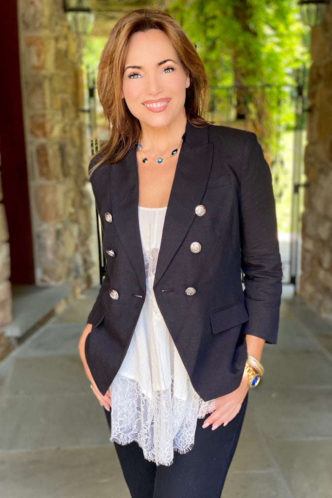 Couture Inspired Linen Blend Blazer