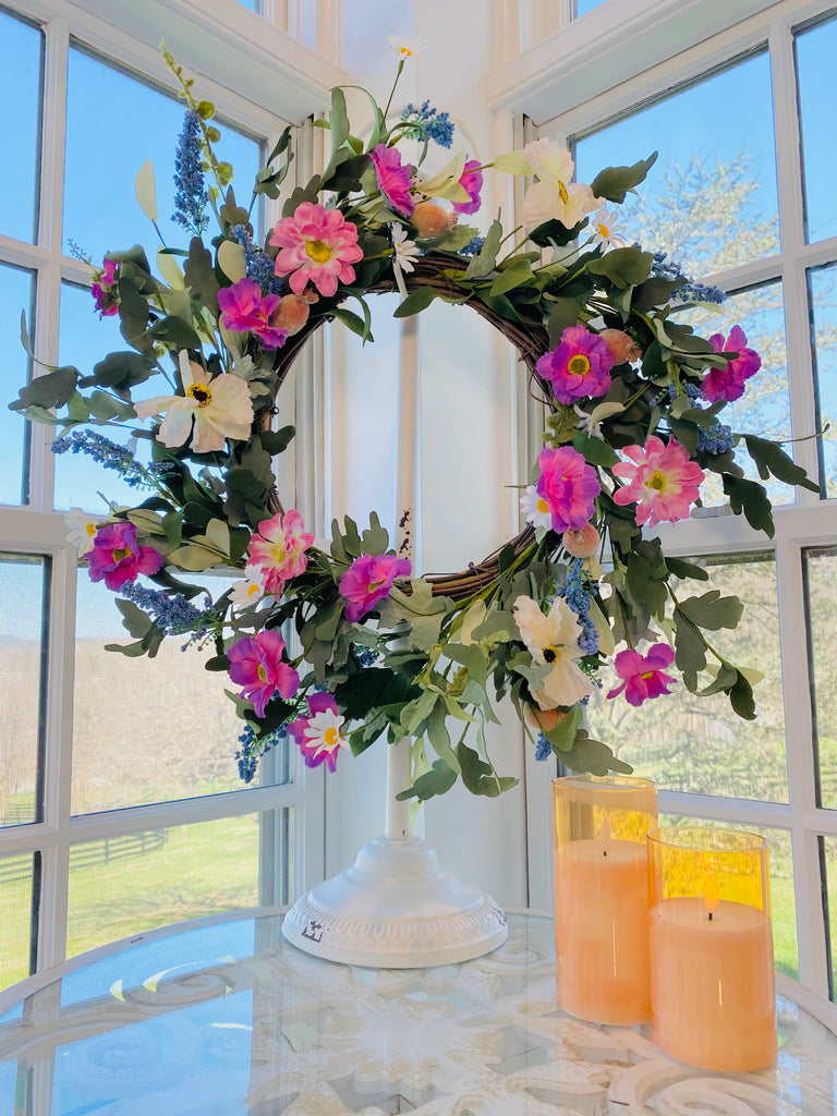 "25"" Mixed Floral Wreath"