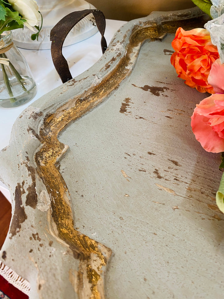 "32"" Distressed Wooden Tray"