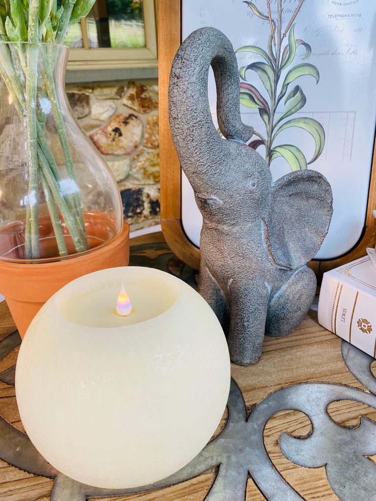 Large Round 3D Flameless Candle