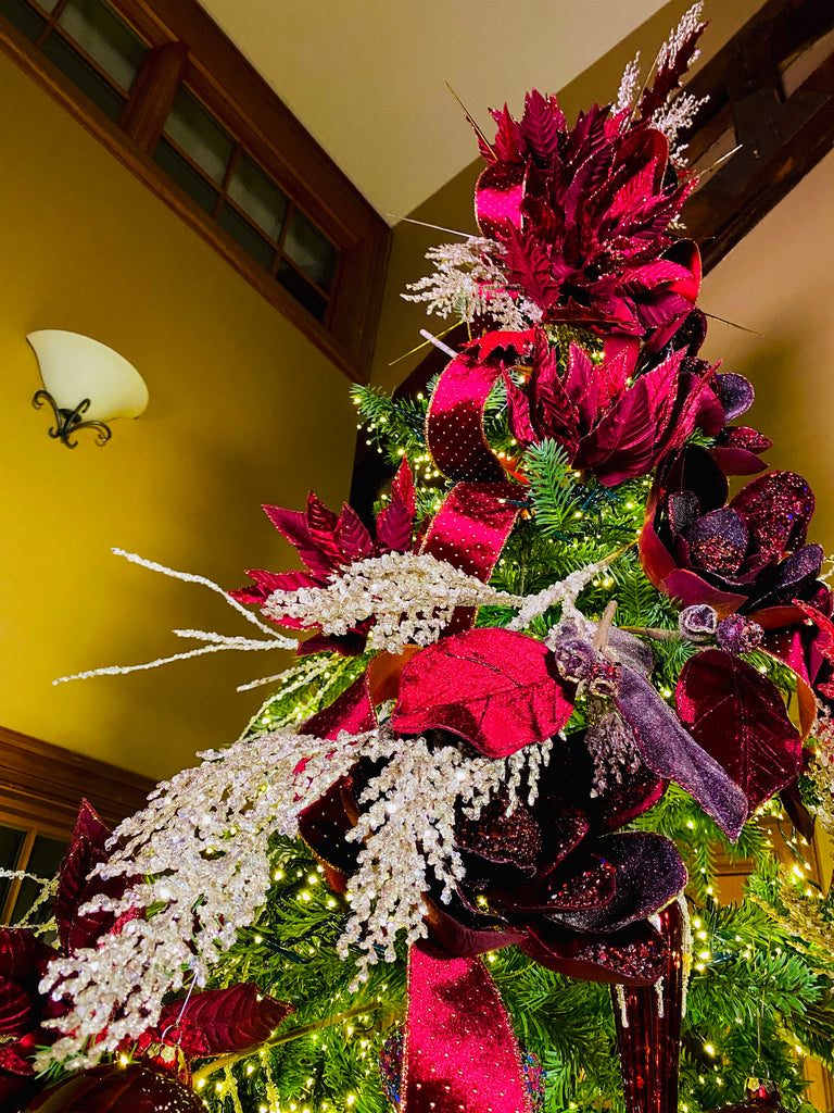 Burgundy Velvet Poinsettias