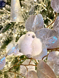Faux Fur Accented Bird Ornaments