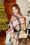 Reversible Plaid and Animal Print Scarf