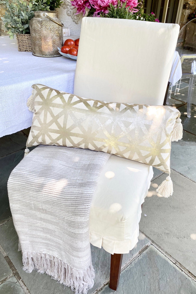 Metallic Geometric Pillow
