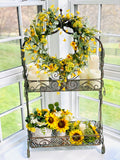 Plant Stand with Birds and Flowers