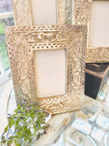 Carved Mango Wood and Silver Frames