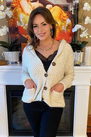 Cardigan with Sparkling Trim