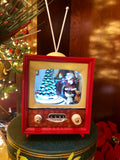 Santa Lighted Animated Vintage TV Musicbox
