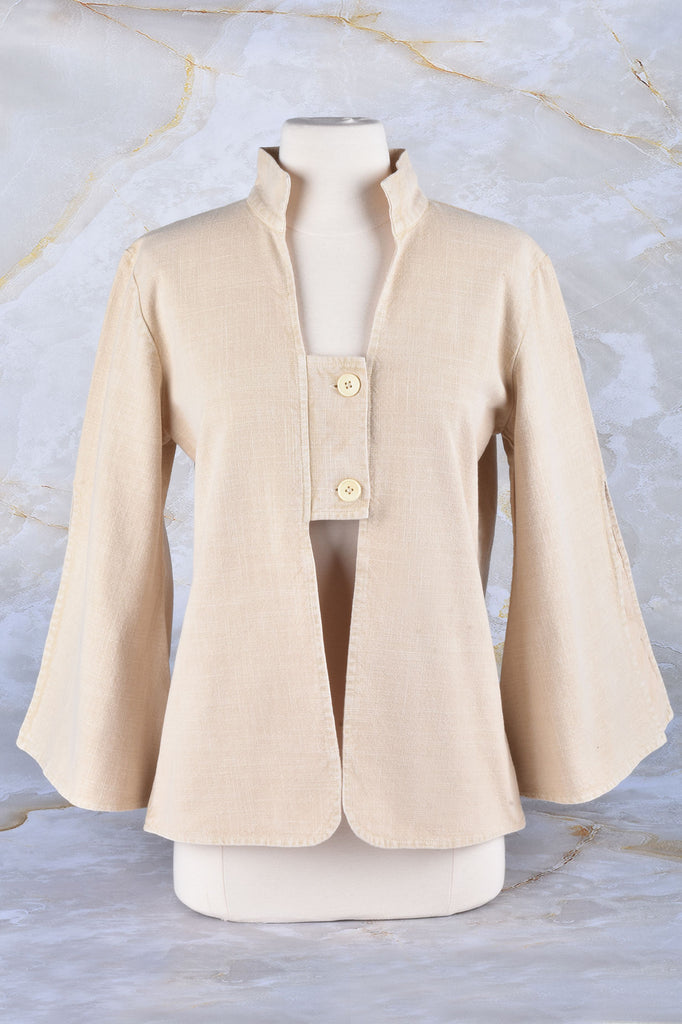 Summer Jacket With Cut Away Flare Sleeves
