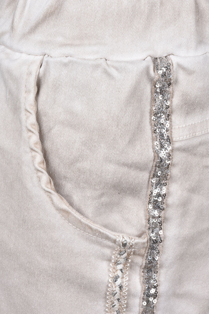 Joggers with Sparkle Trim
