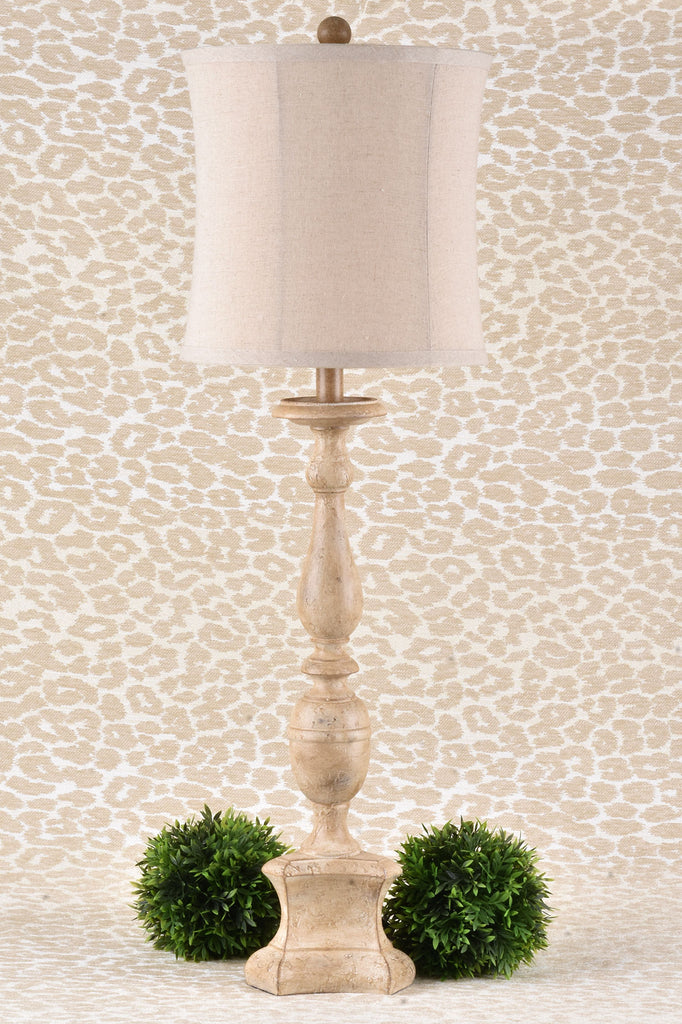 Neutral Lamp with Linen Shade