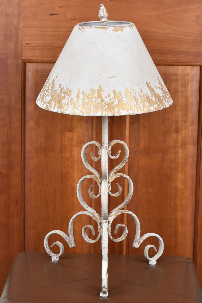 Ivory Scroll Base Table Lamp