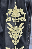 Dolce Embroidered Leather Jacket