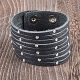 The Layered Look Handmade Leather Bracelet