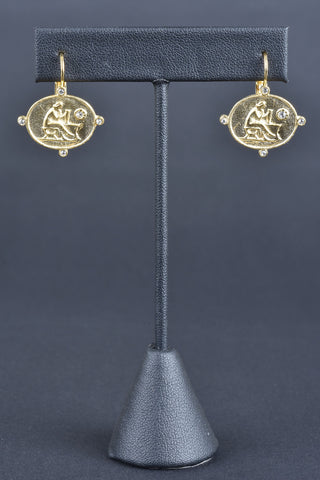 Italian Multi-Shape Dangle Earrings