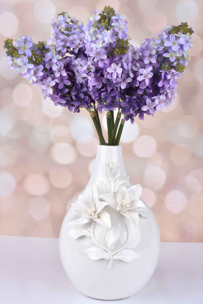 "Set of 6 - 19.5"" Lilac Stems"