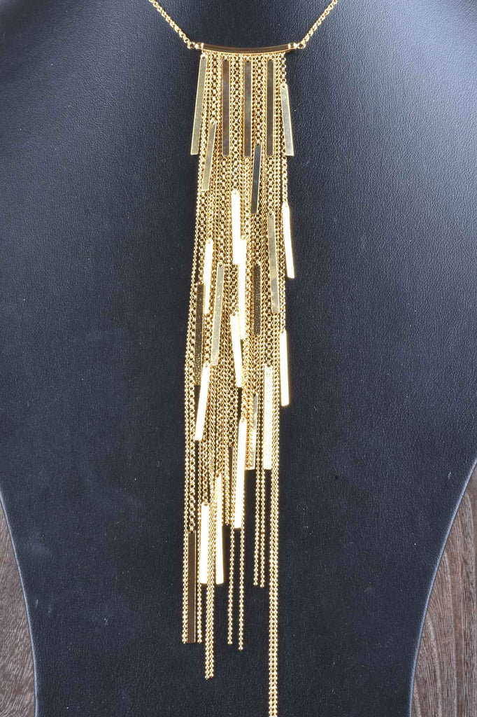 Italian River Of Lights Dramatic Fringe Necklace