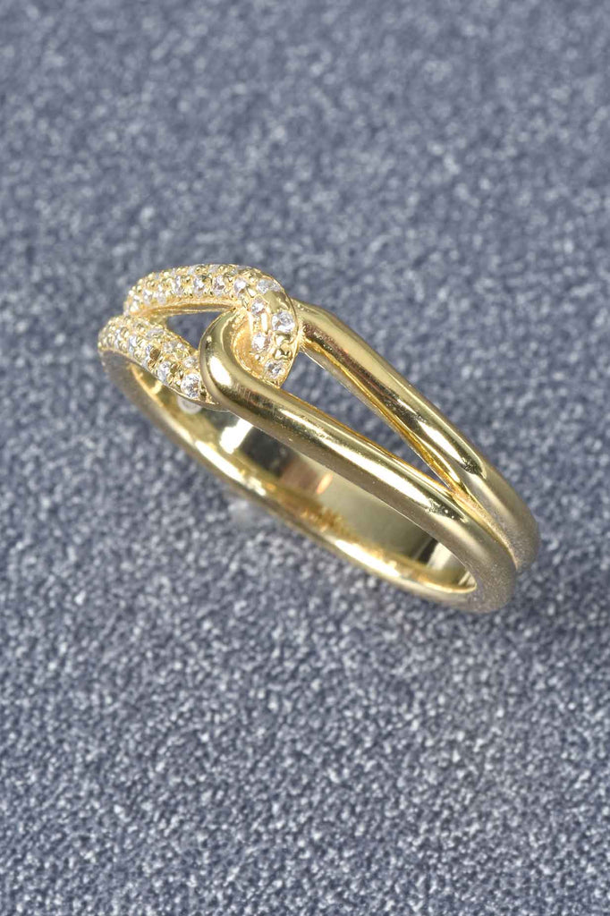 Italian Couture Inspired Loop Ring