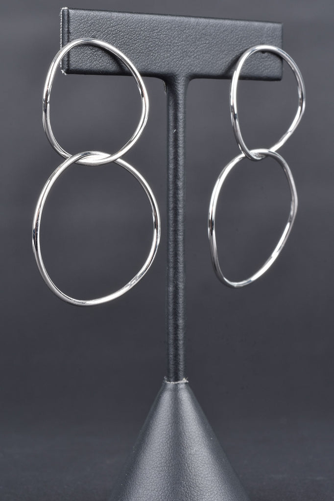 Italian Double Loop Dangle Earrings
