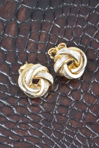 Italian Cameo Swirl Design Earrings