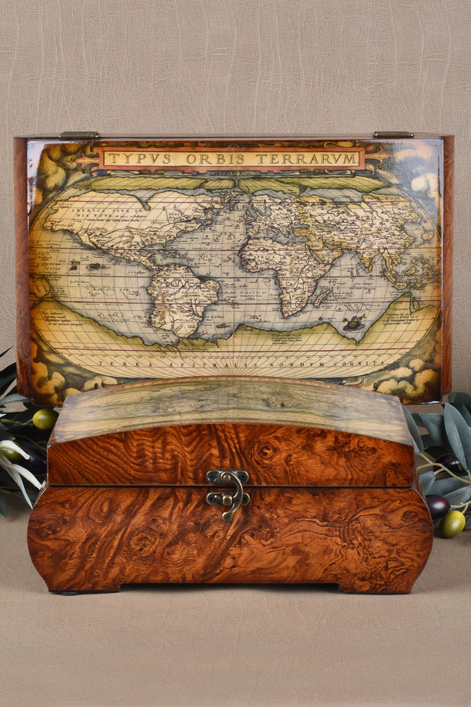 Ancient Maps Curved Boxes