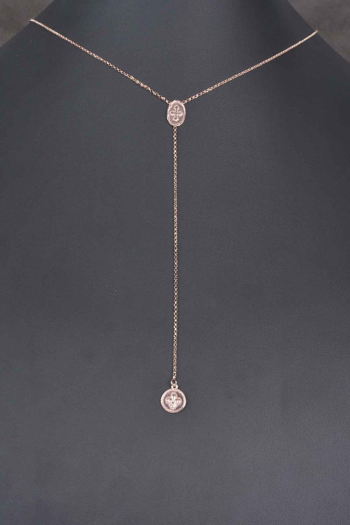 Italian Medallion Lariat Necklace