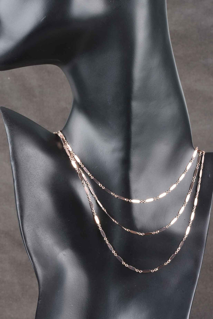 Italian Rectangular Mirror Bar Necklace