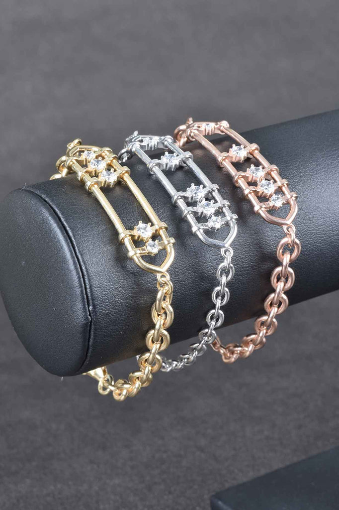 Handmade Couture Inspired Sliding Station Bracelet