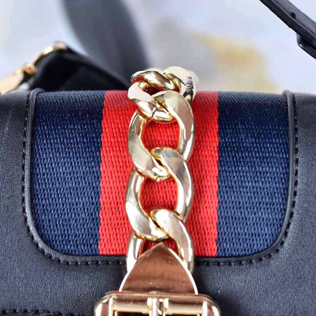 Nautical Chain Detail Crossbody Bag