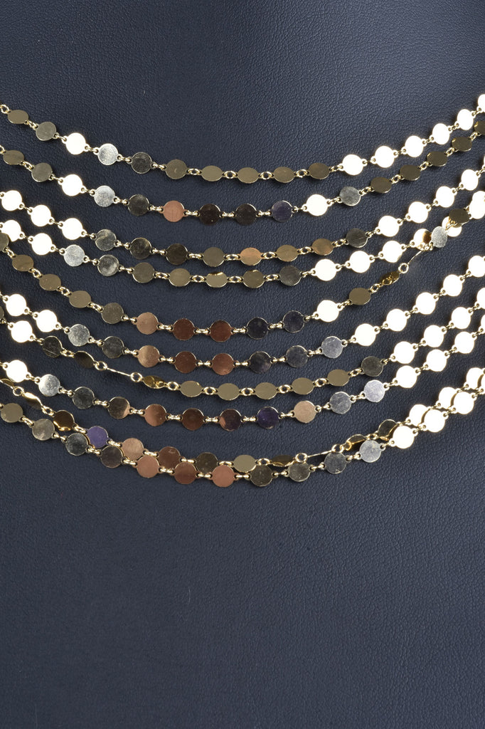 River of Lights Grand Layered Sequins Necklace
