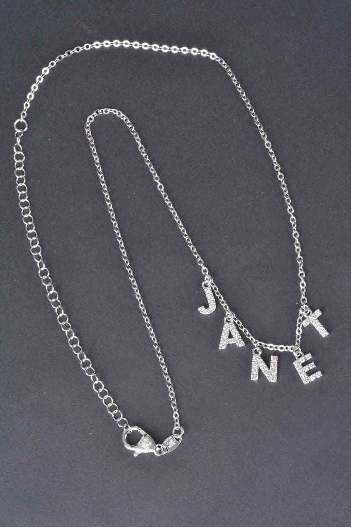 Italian Personalized Pave Name Necklace
