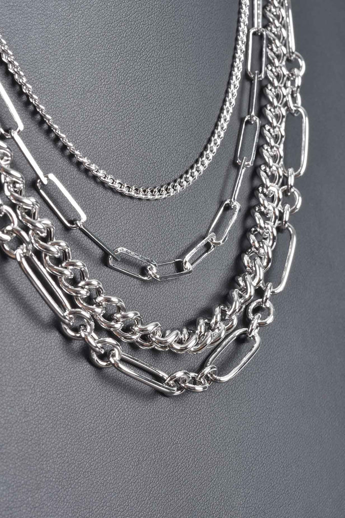 Italian 4-in-1 Draped Chains Necklace