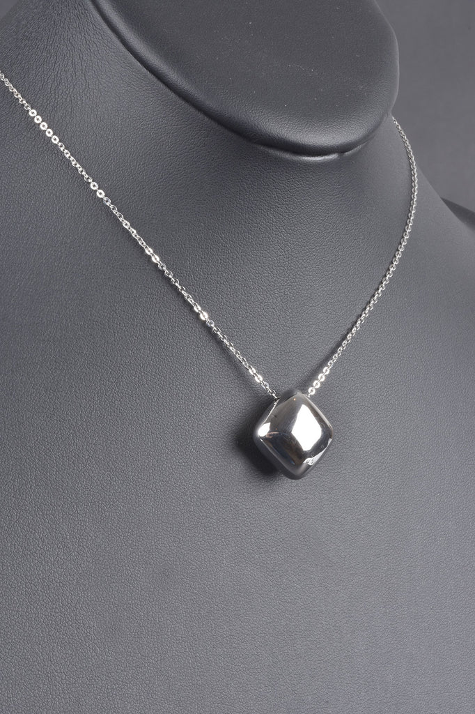 Italian Polished Cushion Slide Necklace