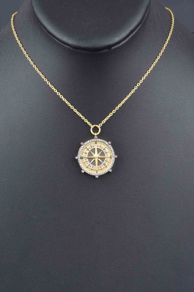 "Couture Inspired ""Finding Your Path"" Compass Pendant"