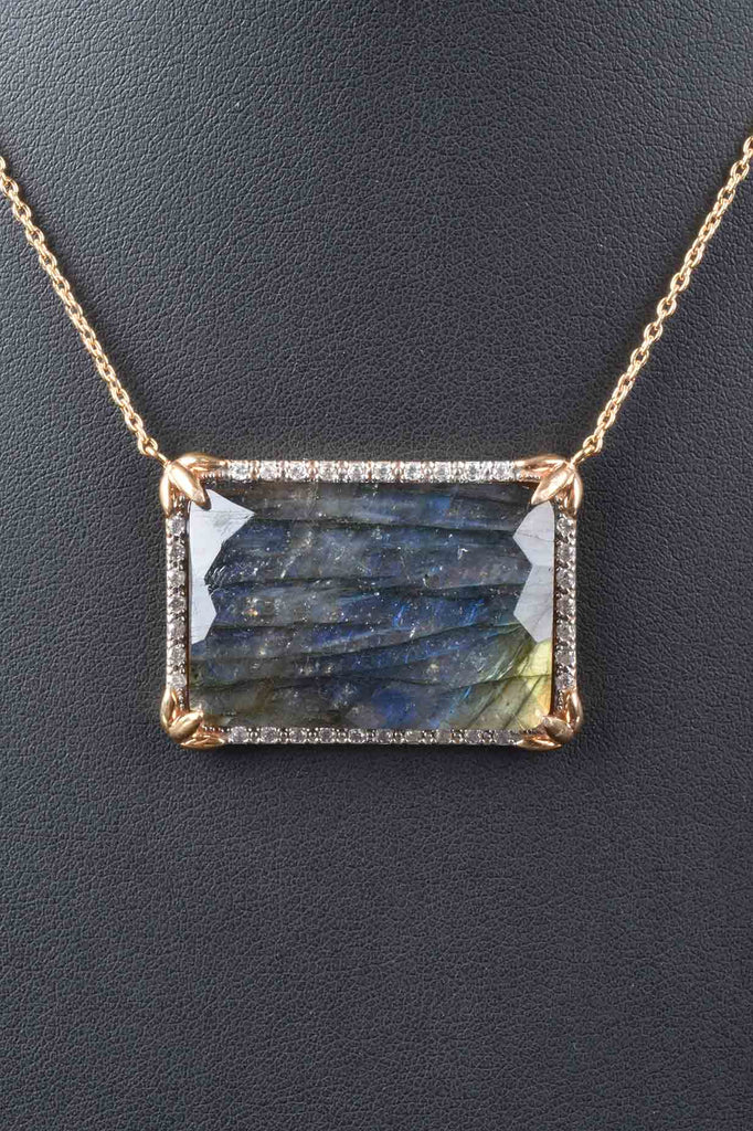Rectangular Faceted Gemstone Necklace