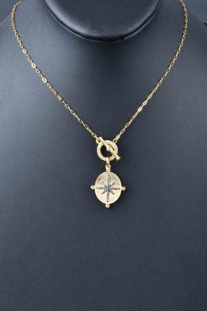 Couture Inspired North Star Toggle Necklace