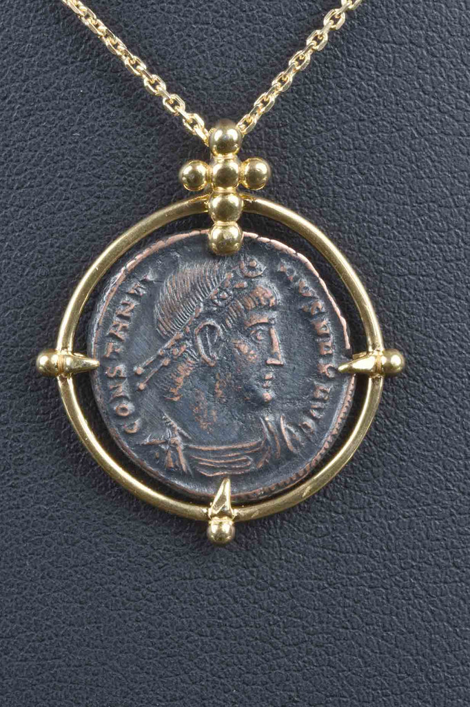 Constantine The Great Ancient Coin Pendant